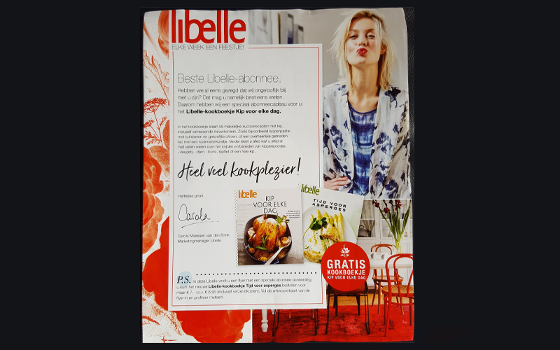 Libelle bedankt haar abonnees