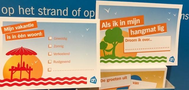 Stuur Albert Heijn een kaartje vanuit je vakantieadres