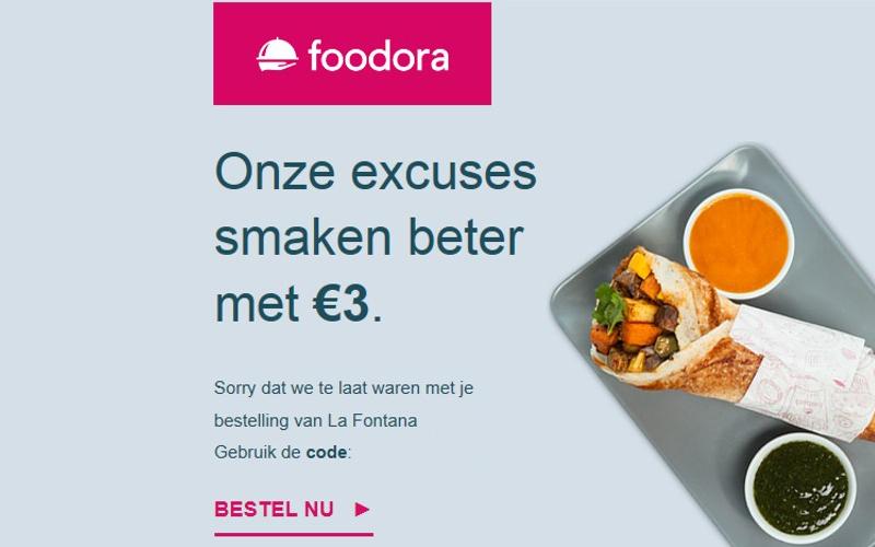 Foodora zegt sorry